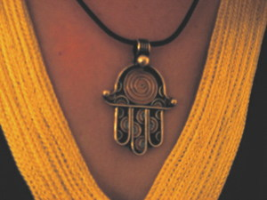 Старинный еврейский амулет амулет с именами ангелов